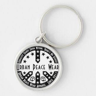 Urban Peace Wear Silver-Colored Round Key Ring