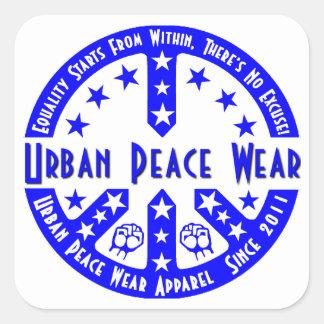 Urban Peace Wear Square Sticker