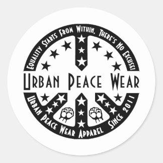 Urban Peace Wear Round Stickers