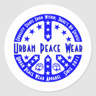 Urban Peace Wear Round Sticker