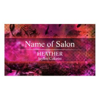 Urban Pink Floral Salon Business Card