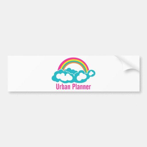 Urban Planner Rainbow Cloud Bumper Sticker