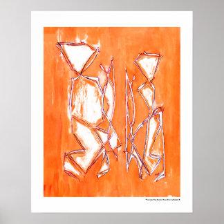 Urban Pop Couple Art Orange Contemporary by MCB Poster
