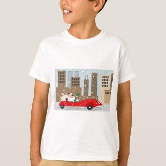 Urban Santa in Sleek Car T-Shirt