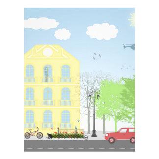Urban scene 21.5 cm x 28 cm flyer