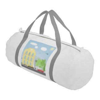 Urban scene gym duffel bag