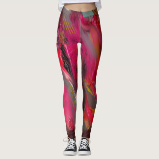 Urban Scratch: Red and pink Leggings
