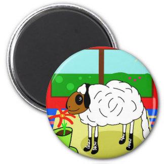 Urban sheep 6 cm round magnet