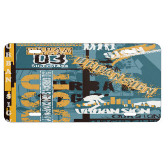 Urban Sign License Plate Cover License Plate