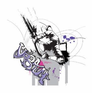 urban sk8er graffiti design photo cutouts