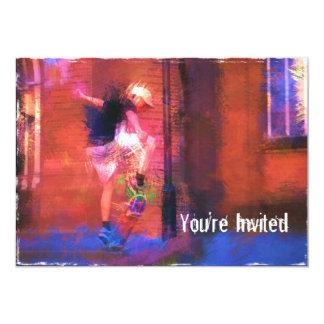 "Urban Skateboard in Alley 5"" X 7"" Invitation Card"