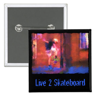 Urban Skateboard in Alley Pinback Button