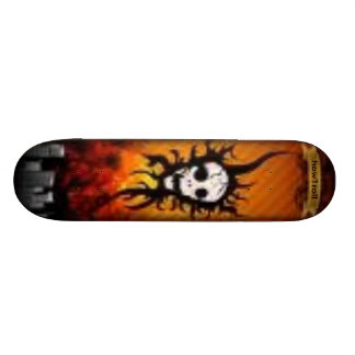 Urban skull deck skate board