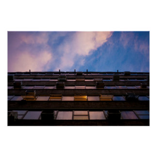 Urban Sky and Building Photograph Print