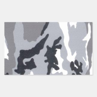 Urban/Snow Camo Rectangular Sticker