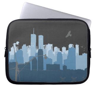Urban Sprawl (dark) laptop sleeve