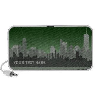 Urban Sprawl distressed Doodle speaker (green)