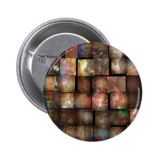 Urban Square Design Pinback Button