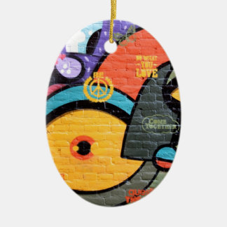 Urban Street Art-Graffiti Ceramic Ornament