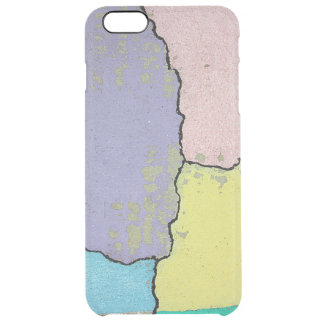 Urban Street Art in Pastels on Cracked Cement Clear iPhone 6 Plus Case