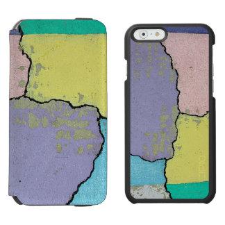 Urban Street Art in Pastels on Cracked Cement Incipio Watson™ iPhone 6 Wallet Case