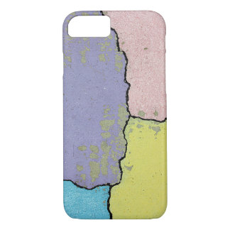 Urban Street Art in Pastels on Cracked Cement iPhone 7 Case