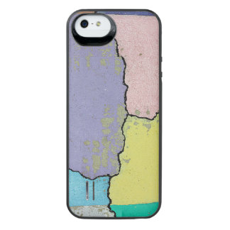 Urban Street Art in Pastels on Cracked Cement iPhone SE/5/5s Battery Case