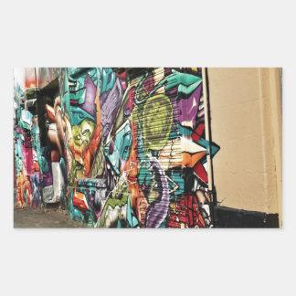 Urban Street Art Rectangular Sticker