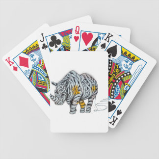 Urban Street Art: Ribbon Rhinoceros Bicycle Playing Cards