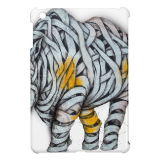 Urban Street Art: Ribbon Rhinoceros iPad Mini Case