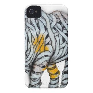 Urban Street Art: Ribbon Rhinoceros iPhone 4 Covers