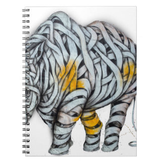 Urban Street Art: Ribbon Rhinoceros Notebooks