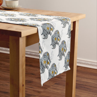 Urban Street Art: Ribbon Rhinoceros Short Table Runner