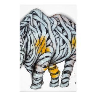 Urban Street Art: Ribbon Rhinoceros Stationery