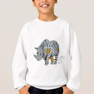 Urban Street Art: Ribbon Rhinoceros Sweatshirt