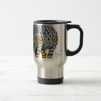 Urban Street Art: Ribbon Rhinoceros Travel Mug