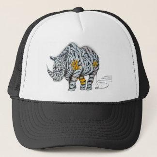 Urban Street Art: Ribbon Rhinoceros Trucker Hat