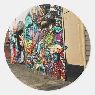 Urban Street Art Round Sticker