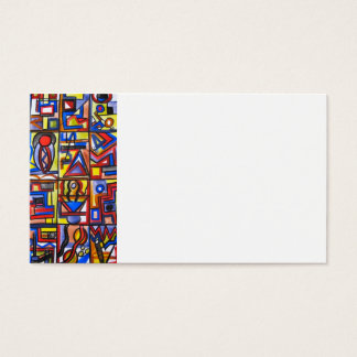 Urban Street Two-Modern Art Geometric Handpainted Business Card