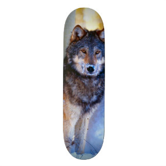 Urban Street Wolf King Custom Pro Park Board 21.3 Cm Mini Skateboard Deck