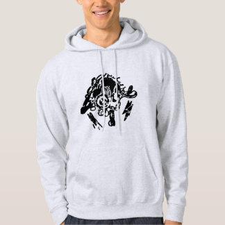 Urban style black stencil hoodie