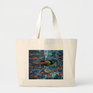 Urban swimmers large tote bag