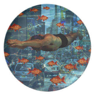 Urban swimmers party plate