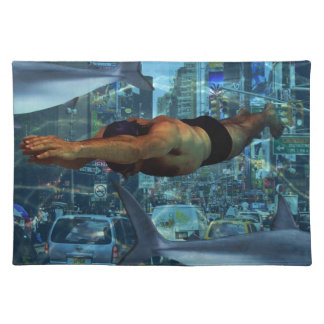 Urban swimmers placemat