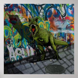 Urban T-Rex Poster