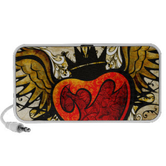 Urban Tattoo Winged Heart and Flourishes Laptop Speakers