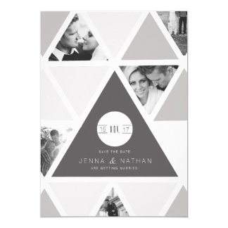 Urban Triangle Overlay | Modern Save The Date Card