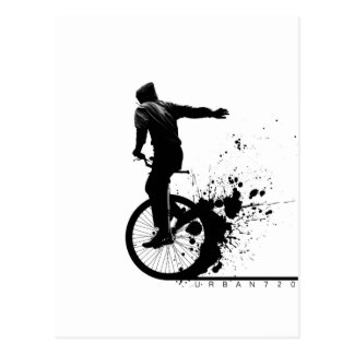 Urban Unicycle A Postcard