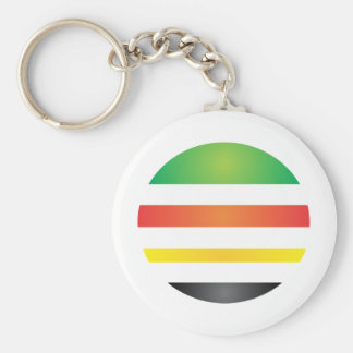 Urbana culture basic round button key ring