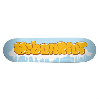 UrbanRiot Graffiti Clouds Deck Skateboard Decks